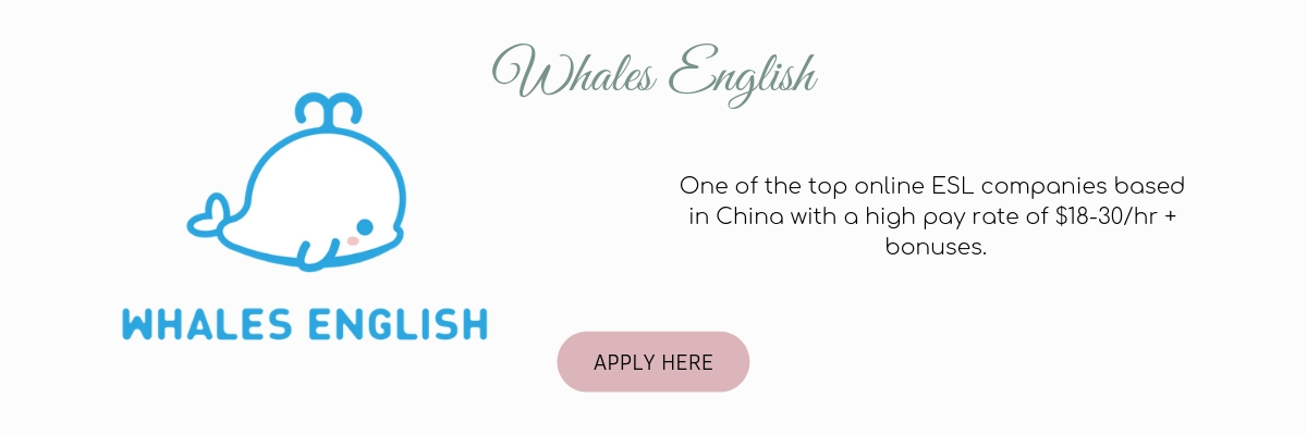 Apply to teach ESL online with Whales English