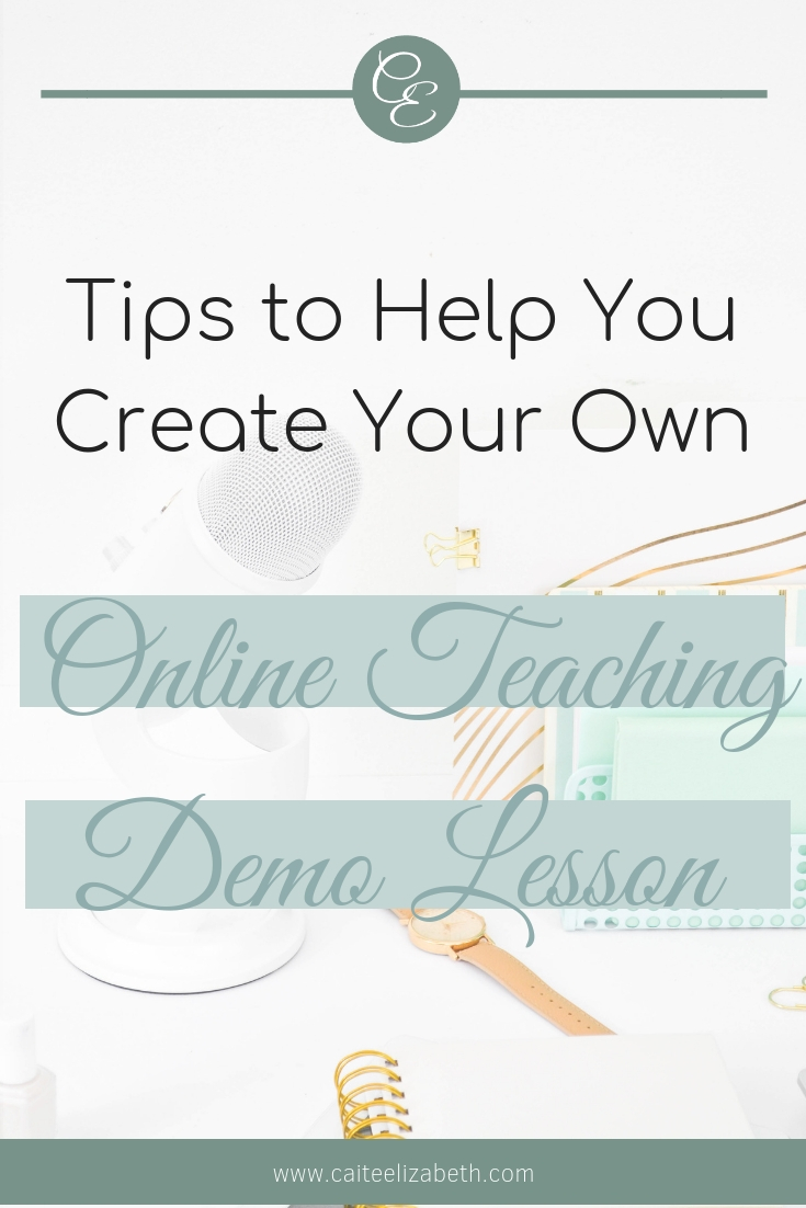 Tips to create your own demo lesson