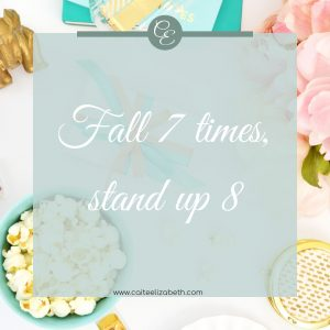 'Fall 7 times, stand up 8'