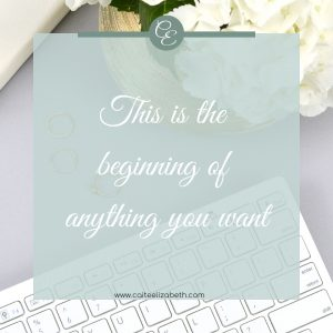 'This is the beginning of anything you want'