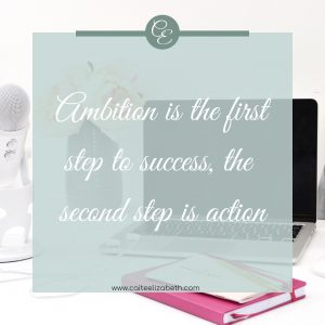 'Ambition is the first step to success, the second step is action'