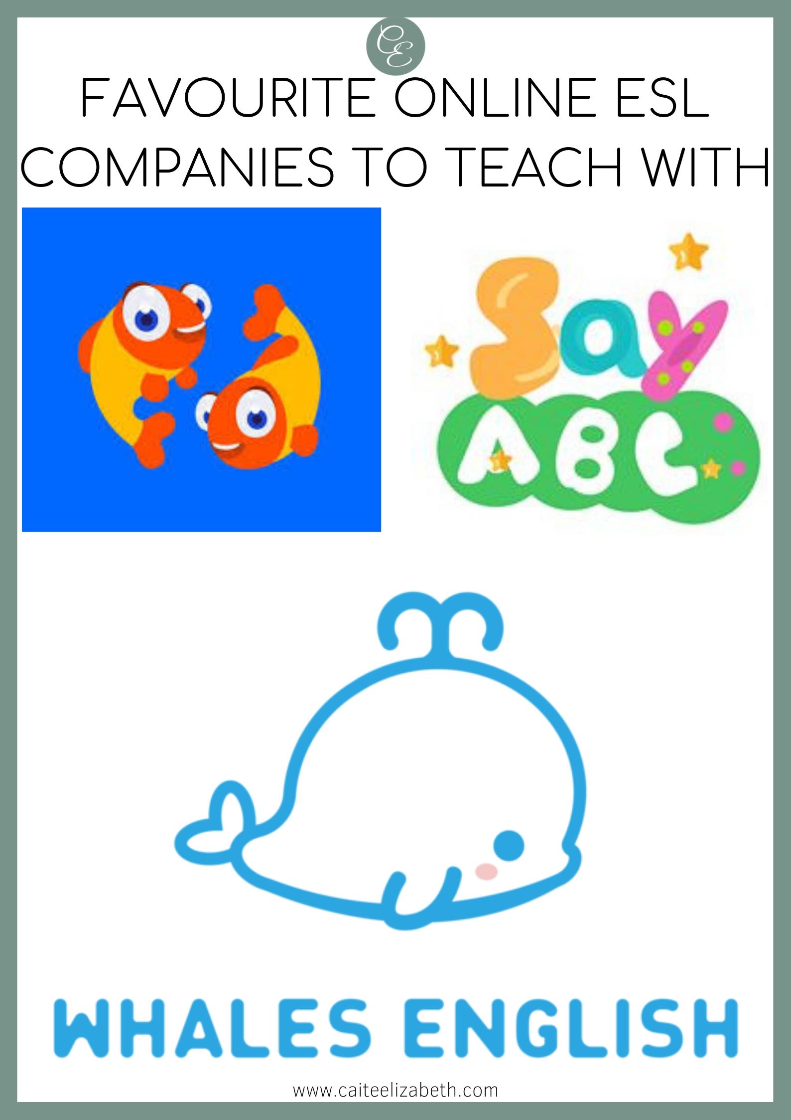 Logos for PalFish, SayABC and Whales English