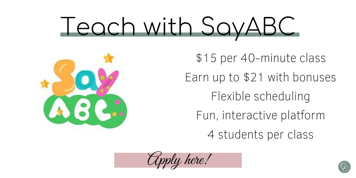 link to apply directly to online ESL company SayABC
