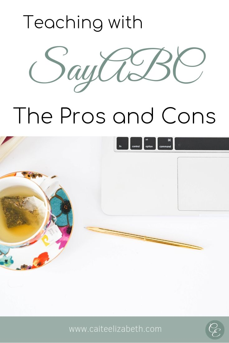 Teaching with SayABC pros and cons