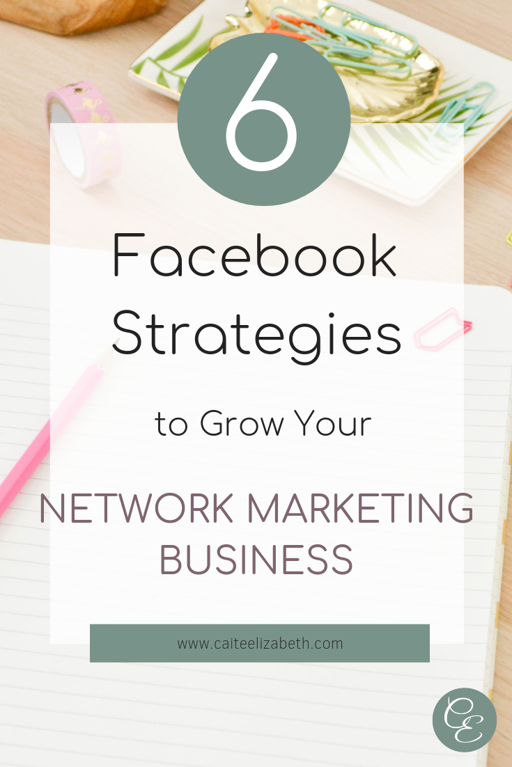 a List of 6 Facebook Strategies for Network Marketers to Follow to Help grow their Business