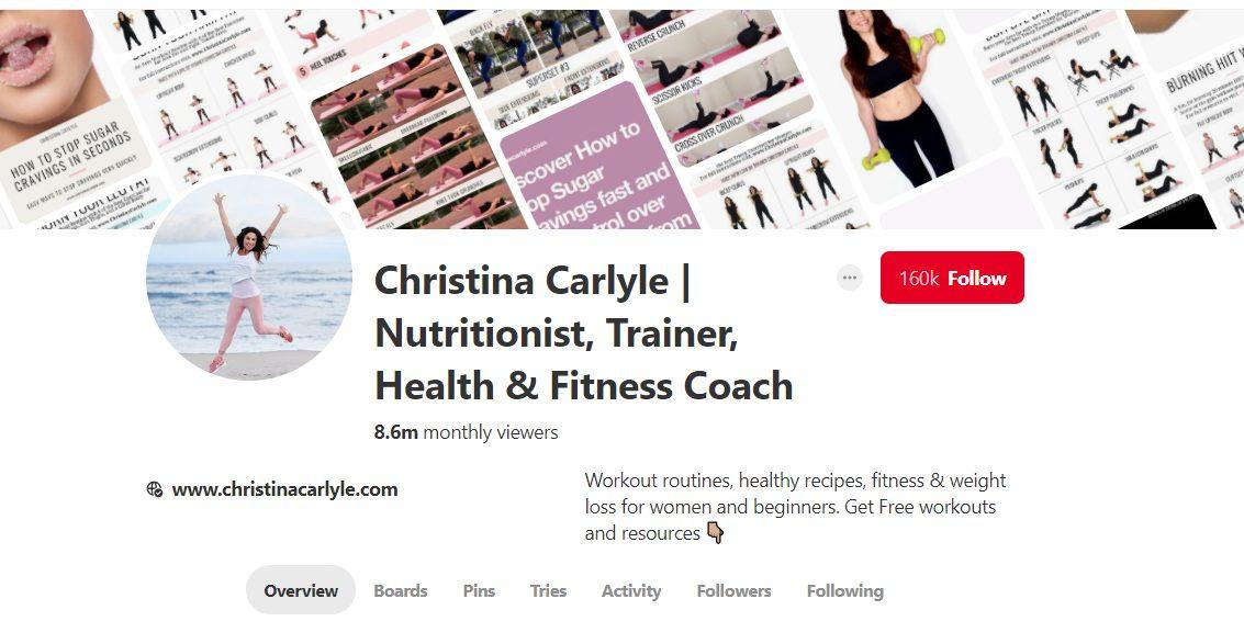 Pinterest Profile Example