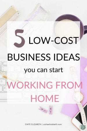 low-cost business ideas working from home