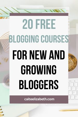 free blogging courses new bloggers