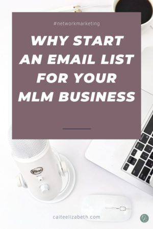 start mlm email list