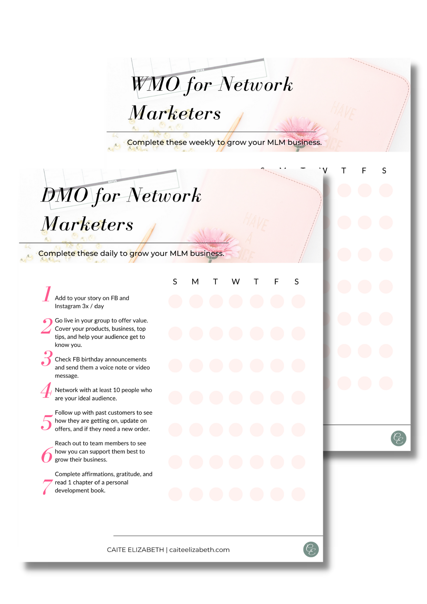 checklist for network marketers