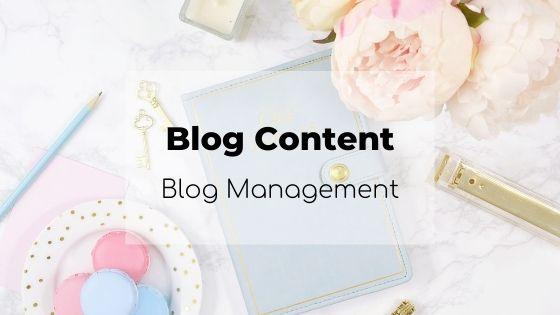 blog content, blog management